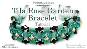How to Bead / Videos Sorted by Beads / All Other Bead Videos / Tila Rose Garden Bracelet Tutorial