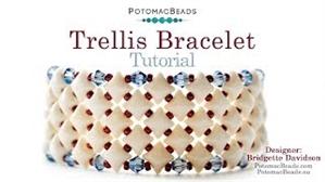 How to Bead Jewelry / Videos Sorted by Beads / WibeDuo Bead Videos / Trellis Bracelet Tutorial