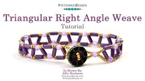 How to Bead Jewelry / Videos Sorted by Beads / Potomac Crystal Videos / Triangular Right Angle Weave Bracelet Tutorial