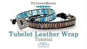 How to Bead Jewelry / Videos Sorted by Beads / Tubelet Bead Videos / Tubelet Leather Wrap Tutorial