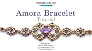 How to Bead / Videos Sorted by Beads / Potomax Metal Bead Videos / Amora Bracelet Tutorial