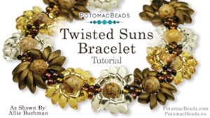 How to Bead / Videos Sorted by Beads / Seed Bead Only Videos / Twisted Suns Bracelet Tutorial