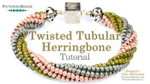 How to Bead Jewelry / Videos Sorted by Beads / Seed Bead Only Videos / Twisted Tubular Herringbone Tutorial