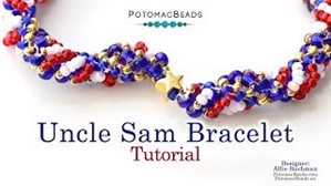 How to Bead / Videos Sorted by Beads / Seed Bead Only Videos / Uncle Sam (Dutch Spiral) Bracelet