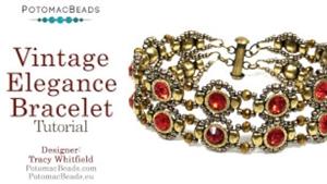 How to Bead Jewelry / Videos Sorted by Beads / Potomac Crystal Videos / Vintage Elegance Bracelet Tutorial