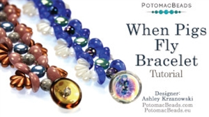 How to Bead Jewelry / Videos Sorted by Beads / DiscDuo® Bead Videos / When Pigs Fly Bracelet Tutorial