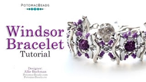 How to Bead Jewelry / Videos Sorted by Beads / Cabochon Videos / Windsor Bracelet Tutorial