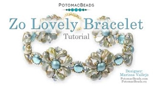 How to Bead Jewelry / Videos Sorted by Beads / Potomac Crystal Videos / Zo Lovely Bracelet Tutorial