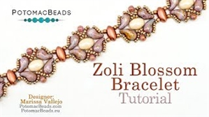 How to Bead Jewelry / Videos Sorted by Beads / ZoliDuo and Paisley Duo Bead Videos / Zoli Blossom Bracelet Tutorial