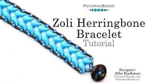 How to Bead Jewelry / Videos Sorted by Beads / ZoliDuo and Paisley Duo Bead Videos / Zoli Herringbone Bracelet Tutorial