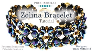 How to Bead Jewelry / Videos Sorted by Beads / ZoliDuo and Paisley Duo Bead Videos / Zolina Bracelet Tutorial