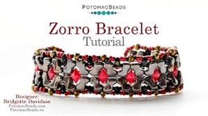 How to Bead / Videos Sorted by Beads / Diamond Shaped Bead Videos / Zorro Bracelet Tutorial