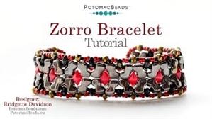 How to Bead Jewelry / Videos Sorted by Beads / Diamond Shaped Bead Videos / Zorro Bracelet Tutorial