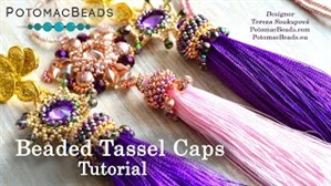 How to Bead Jewelry / Videos Sorted by Beads / Seed Bead Only Videos / Beaded Tassel Cap Tutorial