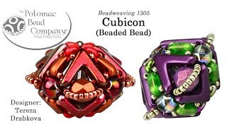 How to Bead / Videos Sorted by Beads / CzechMates Bead Videos / Cubicon Beaded Bead Tutorial