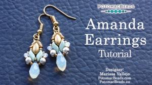 How to Bead Jewelry / Videos Sorted by Beads / RounDuo® & RounDuo® Mini Bead Videos / Amanda Earrings Tutorial