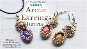 How to Bead / Videos Sorted by Beads / Cabochon Videos / Arctic Earrings Tutorial