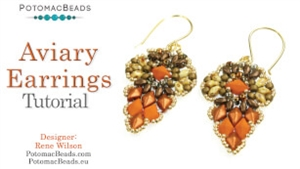 How to Bead Jewelry / Videos Sorted by Beads / Diamond Shaped Bead Videos / Aviary Earrings Tutorial