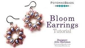 How to Bead Jewelry / Videos Sorted by Beads / Potomax Metal Bead Videos / Bloom Earrings Tutorial