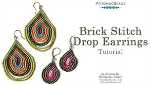 How to Bead Jewelry / Videos Sorted by Beads / Seed Bead Only Videos / Brick Stitch Drop Earrings Tutorial