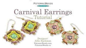 How to Bead Jewelry / Videos Sorted by Beads / CzechMates Bead Videos / Carnival Earrings Tutorial