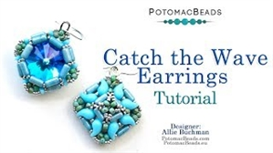 How to Bead Jewelry / Videos Sorted by Beads / ZoliDuo and Paisley Duo Bead Videos / Catch the Wave Earrings Tutorial