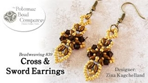 How to Bead Jewelry / Videos Sorted by Beads / All Other Bead Videos / Cross & Sword Earrings Tutorial