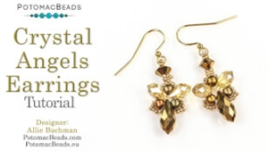 How to Bead Jewelry / Videos Sorted by Beads / Potomac Crystal Videos / Crystal Angel Earrings Tutorial