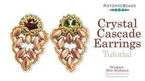How to Bead Jewelry / Videos Sorted by Beads / IrisDuo® Bead Videos / Crystal Cascade Earrings Tutorial