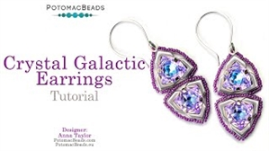 How to Bead Jewelry / Videos Sorted by Beads / Potomax Metal Bead Videos / Crystal Galactic Earrings