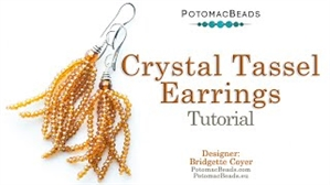 How to Bead / Videos Sorted by Beads / Potomac Crystal Videos / Crystal Tassel Earrings Tutorial