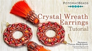 How to Bead Jewelry / Videos Sorted by Beads / Tubelet Bead Videos / Crystal Wreath Earrings Tutorial