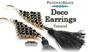 How to Bead Jewelry / Videos Sorted by Beads / Potomac Crystal Videos / Deco Earrings Tutorial