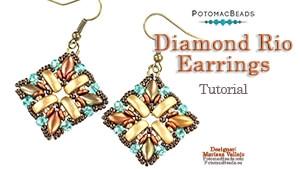 How to Bead Jewelry / Videos Sorted by Beads / IrisDuo® Bead Videos / Diamond Rio Earrings Tutorial