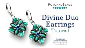 How to Bead / Videos Sorted by Beads / Potomax Metal Bead Videos / Divine Duo Earrings Tutorial