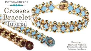 How to Bead / Free Video Tutorials / Bracelet Projects / Crosses Bracelet Tutorial