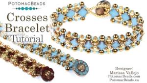 How to Bead Jewelry / Beading Tutorials & Jewel Making Videos / Bracelet Projects / Crosses Bracelet Tutorial