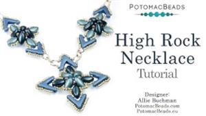 How to Bead Jewelry / Beading Tutorials & Jewel Making Videos / Bead Weaving Tutorials & Necklace Tutorial / High Rock Necklace Tutorial