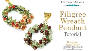How to Bead Jewelry / Videos Sorted by Beads / Potomac Crystal Videos / Filigree Wreath Pendant Tutorial
