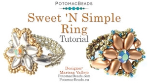 How to Bead Jewelry / Beading Tutorials & Jewel Making Videos / Ring Projects / Sweet 'N Simple Ring Tutorial