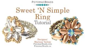 How to Bead Jewelry / Videos Sorted by Beads / IrisDuo® Bead Videos / Sweet 'N Simple Ring Tutorial
