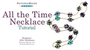 How to Bead Jewelry / Videos Sorted by Beads / Potomac Crystal Videos / All the Time Necklace Tutorial