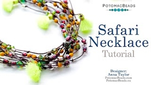 How to Bead Jewelry / Beading Tutorials & Jewel Making Videos / Stringing & Knotting Projects / Safari Necklace Tutorial