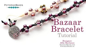 How to Bead Jewelry / Beading Tutorials & Jewel Making Videos / Bracelet Projects / Bazaar Bracelet Tutorial