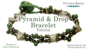 How to Bead / Videos Sorted by Beads / O Bead Videos / Pyramid & Drop Bracelet Tutorial