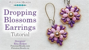 How to Bead / Videos Sorted by Beads / RounDuo® & RounDuo® Mini Bead Videos / Dropping Blossom Earring Tutorial