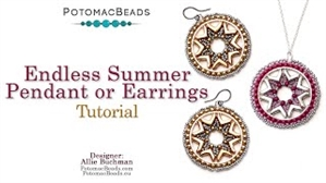 How to Bead / Videos Sorted by Beads / Potomax Metal Bead Videos / Endless Summer Pendant Tutorial