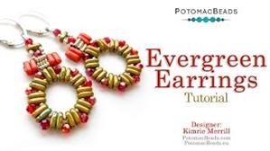 How to Bead Jewelry / Videos Sorted by Beads / CzechMates Bead Videos / Evergreen Earrings Tutorial