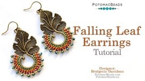 How to Bead / Videos Sorted by Beads / Potomac Crystal Videos / Falling Leaf Earrings Tutorial