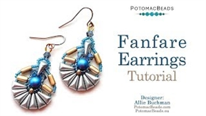 How to Bead Jewelry / Videos Sorted by Beads / Potomac Crystal Videos / Fanfare Earring Tutorial